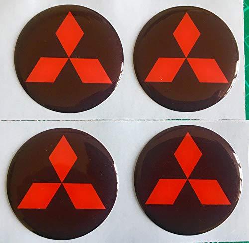 SCOOBY DESIGNS Adhesivos para tapa central de rueda de aleación para Mitsubishi Evo X4 Shogun LS200 Outlander (60 mm)