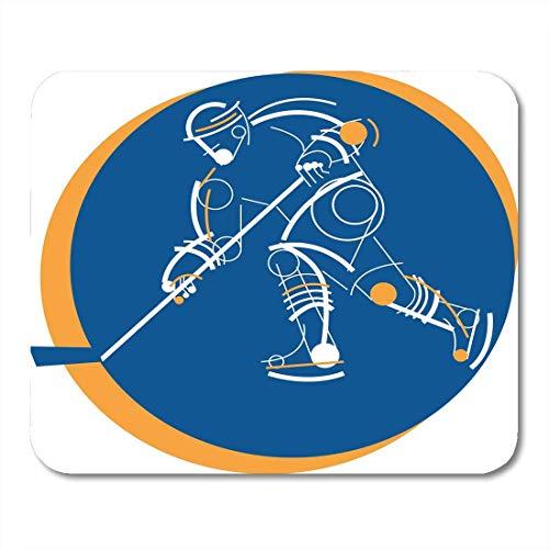Mauspads puck athlet eishockeyspieler abstraktes spiel schlittschuhe sport mauspad für notebooks, Desktop-computer matten büromaterial