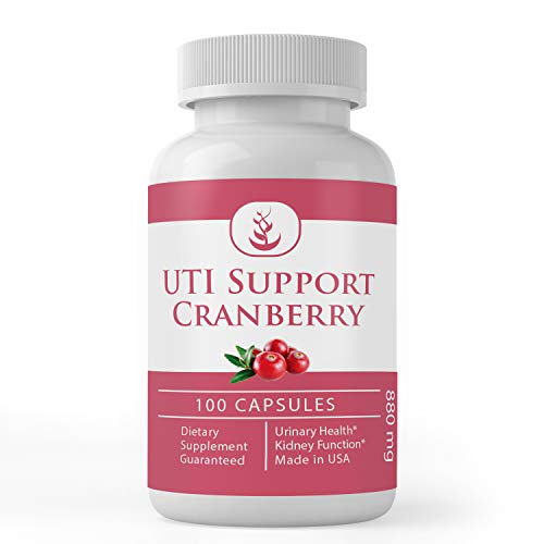 Cranberry Extract (100 Capsules) 100% Pure & Natural, Concentrated Strength, Non-GMO & Gluten-Free (880 mg Serving)