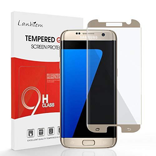 Lanhiem Samsung Galaxy S7 Edge Protector de Pantalla, 3D Curvo Cobertura Completa...