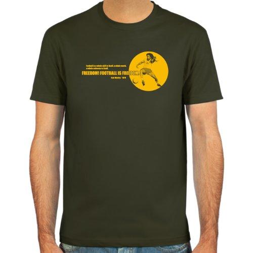 SpielRaum T-Shirt Bob Zitat 1979 ::: Farbauswahl: schwarz, Oliv oder Navy ::: Größen: S-XXL ::: Fußball-Kult