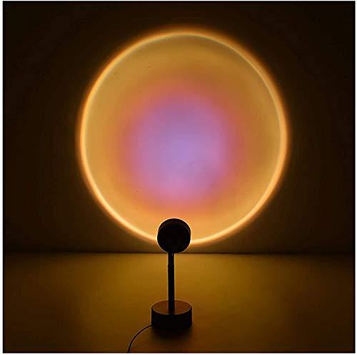 Luz del piso de proyección de la puesta del sol, lámpara de proyector de la luz de la noche de la noche de la noche de 90 grados Rotación del arco iris Lámpara de proyección del arco iris, luz del LED