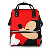 Bolsa de pañales mochila – Mickey Mouse multifunción impermeable mochila de viaje maternidad pañales bolsas cambiantes