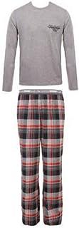 para Hombre. Pijama de Franela de algodón, Color Gris, con pantalón