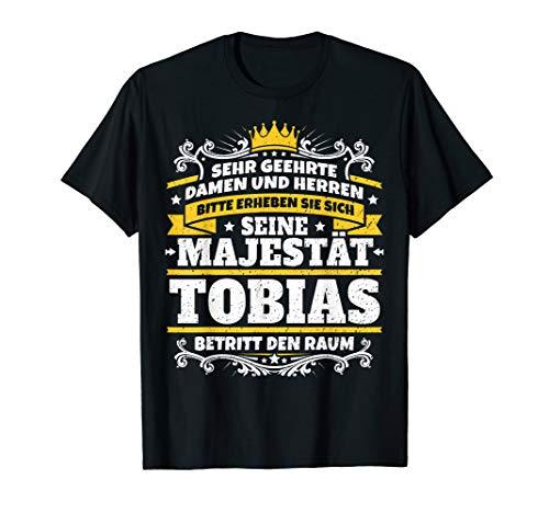 Tobias Name Lustiges Majestät Shirt Vorname Geschenk-Idee