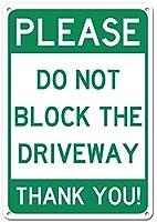 ブロックのない道路標識のない駐車記号レトロ装飾鉄錫金属アートポスターインチ