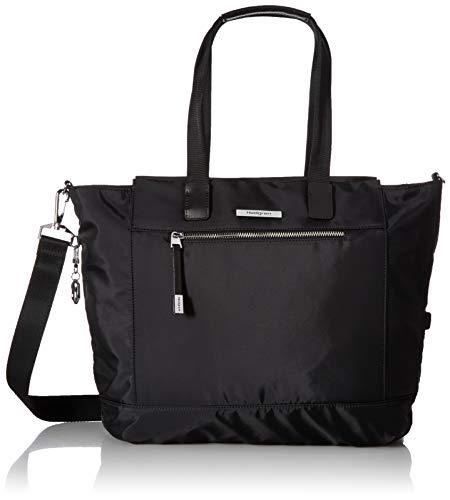 Hedgren Glaze L Tote, RFID, Double Handles, Removable Strap, Leash, Large, Black