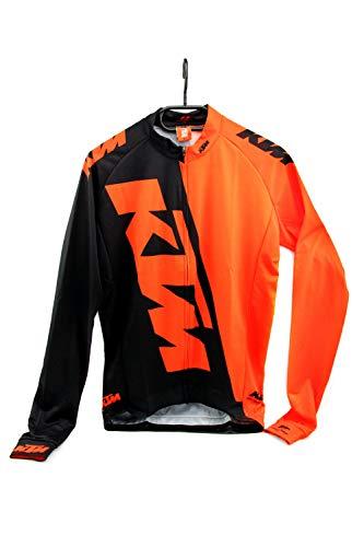 Ktm Langarm Mtb Trikot 2017 Factory Team Race Schwarz-Orange (Medium , Schwarz)