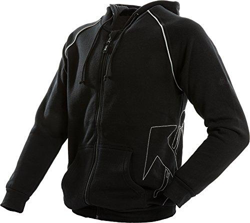 JOB Hoodie-Sweatjacke DACHDECKER mit Zunft-Emblem schwarz (L)