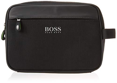 Hugo Boss Herren Lightec Knitted Washbag Kuriertasche, schwarz, Einheitsgröße