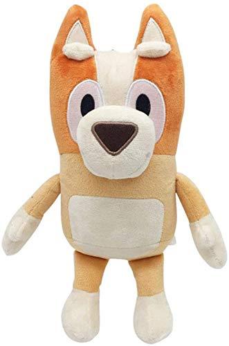 yuailiur Bluey Plush Doll Bingo The Dog Doll Anime Movie Peluche de Juguete para cumpleaños de niños (Orange)