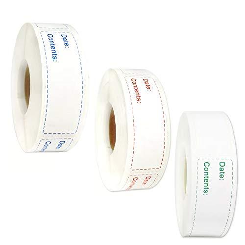 3 rollos de etiquetas para alimentos, etiquetas autoadhesivas, para mermelada, fecha, etiquetas para marmelada, etiquetas, etiquetas, etiquetas autoadhesivas para el hogar, la oficina, la cocina