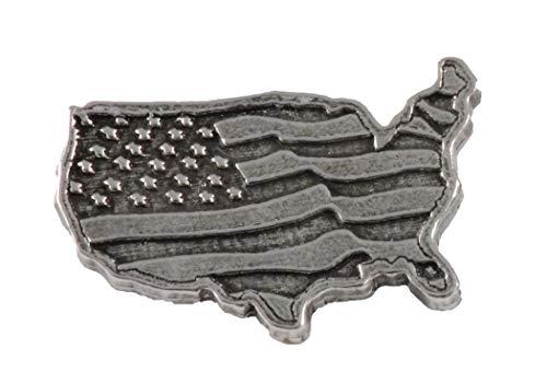 Zinn ~ USA Kontinent mit Flagge ~ groß ~ Kühlschrank Magnet ~ a171m