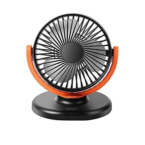 BOENTA Ventilador 12v Ventiladores Coche Ventiladores de Coche 12v Ventiladores de Coche refrigeración USB Portátil Ventilador del Coche Orange,One Size