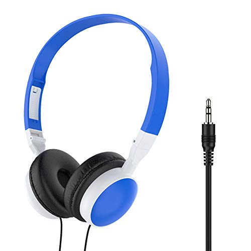 Libobo-001 Gaming Headset, Surround Sound, Foldable Design, Soft Earmuffs, Compatible with Various Mobile Phones and Computers,Blue
