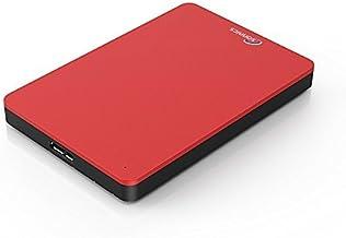 Sonnics 320GB Rojo Disco duro externo portátil de Velocidad de transferencia ultrarrápida USB 3.0 para PC Windows, Apple Mac, Smart TV, XBOX ONE y PS4