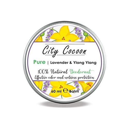 Bálsamo desodorante natural Puro | Lavanda + flor de cananga | Hombre & mujer| 100% libre de crueldad animal | Libre de aluminio, parabenos & plásticos | Hecho en UE | 60ml