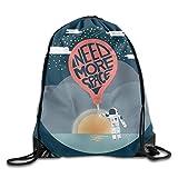 Etryrt Prämie Turnbeutel/Sportbeutel, I Need More Space3 Unisex Outdoor Rucksack Shoulder Bag Sport Drawstring Backpack Bag