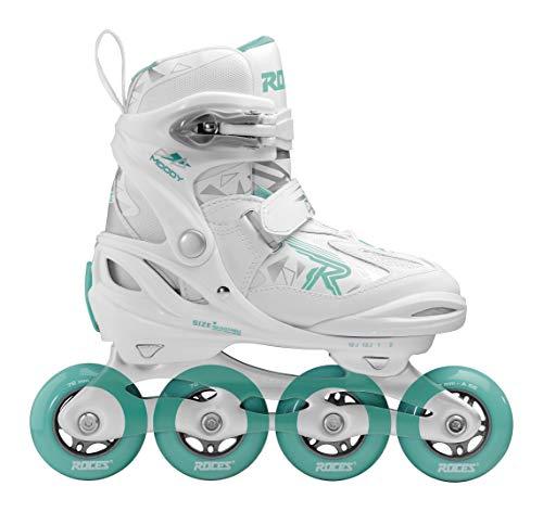 Roces Mädchen Moody Girl TIF Inline-Skates, White-Aqua, 30-35