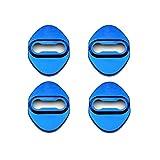 LFOTPP C-HR NGX50 ZYX10 Cubierta de la Cerradura de la Puerta del Coche de Acero Inoxidable Protección Interior Accesorios Cubierta de la Cerradura de la Puerta (Azul)