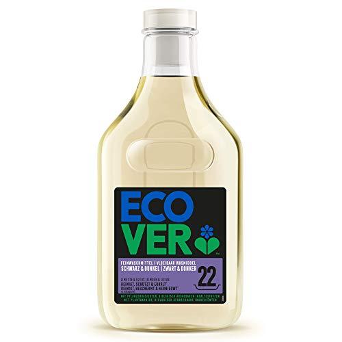 Ecover Lessive Liquide Pour Linge Noir Et Couleurs Foncées | Origine Naturelle Pour Un Linge Propre | Doux Pour La Peau | 1,5L - 33 Lavages