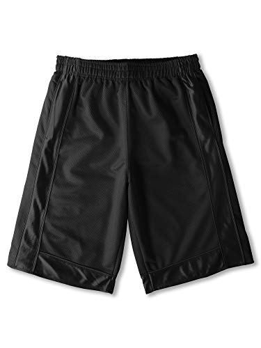 Ma Croix Mens Basketball Mesh Shorts Heavyweight with Secure Zipper Pocket Big and Tall S-5XL (4X-Large, 1rp08_Black)
