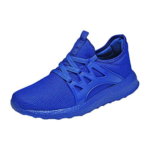SONGJOY Zapatillas deportivas para hombre y mujer, transpirables, ligeras, para entrenar, senderismo, actividades al aire libre, color Azul, talla 42 EU