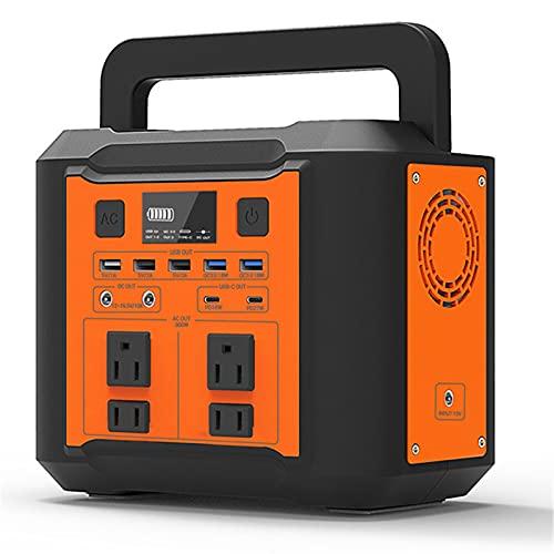 WanuigH Centrale Elettrica Portatile 11. 0V / 220V 500W Caricabatterie del Generatore Solare 80000mAh Alimentazione Energetica All'aperto Facile da Trasportare (Colore : Black+Orange, Size : 500W)