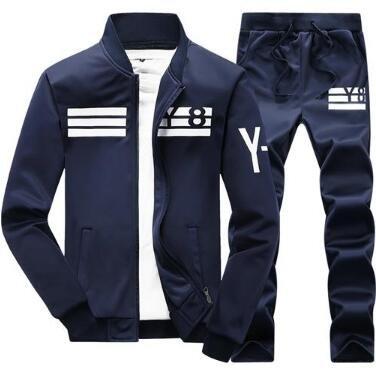 Sudaderas cálidas con Capucha para Hombre Chaqueta chándal Gruesa con Interior Piel + Pantalón Moleton Masculino Dark Blue D05 4XL