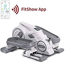 Elliptical Machine Movable Steppers for Exercise Easy Assembly,Adjustable Resistance,Quiet and Compact for Home Office Use