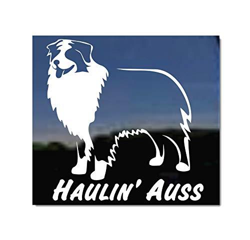 Haulin Auss Australian Shepherd Dog Vinyl Window Decal