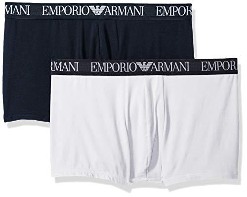 Emporio Armani Herren Endurance 2-Pack Trunk Badehose, Marineblau/Weiß, X-Large