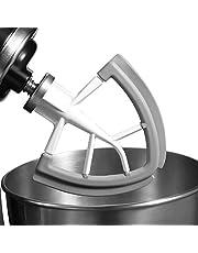 YSHTAN Beater Blade Bakken Accessoires Klopper Flexibele Siliconen Edge Beater Blade voor KitchenAid Tilt-Head Stand Mixer 4.5-5QT - Grijs+Wit