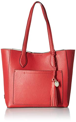Cole Haan Piper Small Leather Tote Bag, barbados cherry