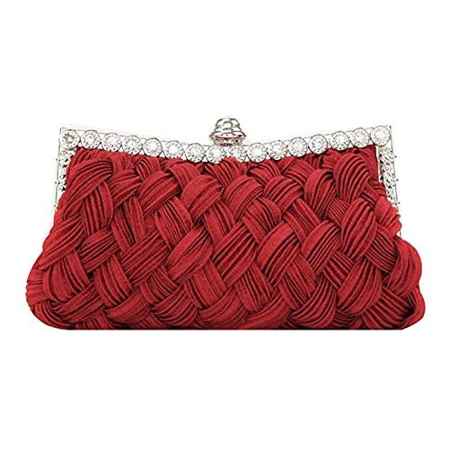Millya - Bolso de mano para mujer, diseño de flores rosas, 5981 + rojo, Talla única