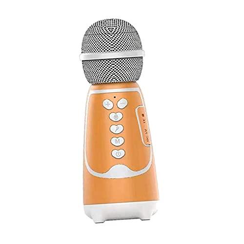 Milageto Juguete Del Canto Del Partido Del Altavoz Del Micrófono Del PDA Del Micrófono Del Karaoke de Bluetooth - naranja