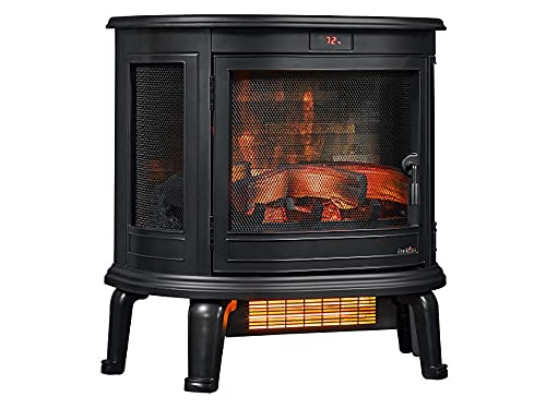 Duraflame 3D Infrared Stove, Black Electric Heater