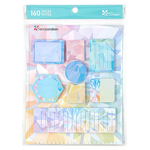 Erin Condren Designer Accessories Planner Snap - in Stylized Sticky Notes, Kaleidoscope Design Theme. Cute Notes for Reminders, Goals, and Tasks to Do