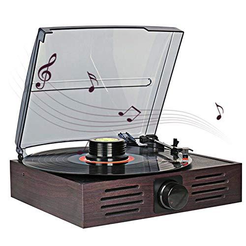 YLLYI Moderne Vinyl-Plattenspieler-Nachahmung Retro-Phonograph Radio Stereo Altmodische Multifunktions-Plattenspieler Radio USB