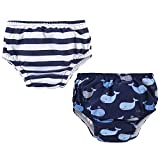 Hudson Baby Unisex Swim Diapers, Whales, 12-18 Months