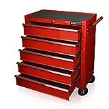 132 Profi carro de herramientas caja de herramientas con ruedas negras
