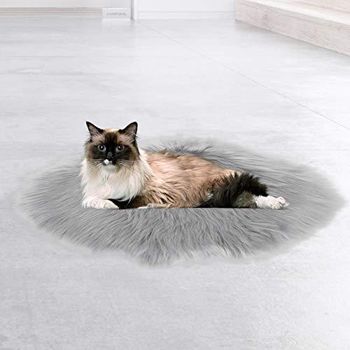 DAUERHAFT Almohadillas térmicas para Mascotas para Gatos Impermeables Antideslizantes para Que el Perro Gato duerma y descanse(Imitation Mink Grey)