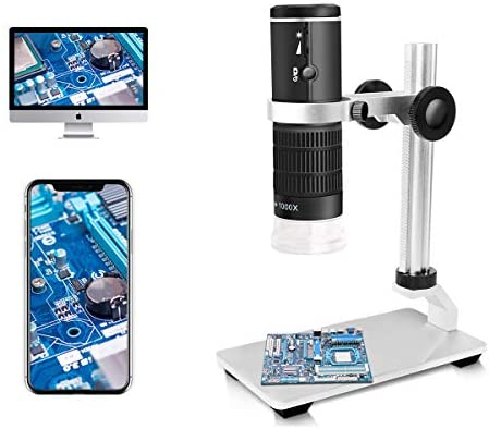 Jiusion WiFi USB Digital Microscope 50 to 1000x Wireless Magnification Endoscope 8 LED Mini product image
