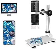 Jiusion WiFi digitale microscoop HD 50X tot 1000X draadloze vergroting endoscoop 8 LED minicamera met standaard...