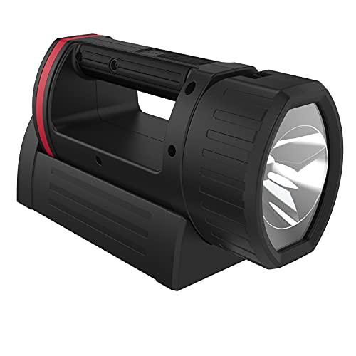 ANSMANN LED Arbeitsleuchte 400 Lumen & verstellbarer Lampenkopf - Handscheinwerfer dimmbar, stoßfest & aufladbar über USB - 5W Akku Arbeitslampe HS5R als Werkstattlampe oder Notbeleuchtung