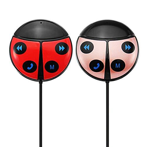 WZhen Coche Beetle Shape Inalámbrico Bluetooth FM Transmisor Teléfono Bluetooth Coche Kit Coche Auto Transmitir - Rojo