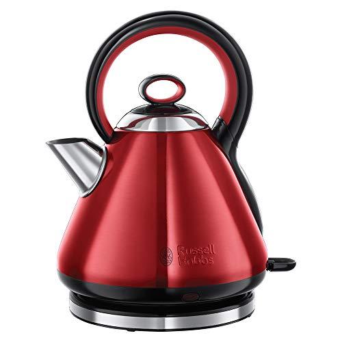 Russell Hobbs Wasserkocher, Legacy rot, 1,7l, 2400W, Schnellkochfunktion, Quiet-Boil-Technologie, optimierte Ausgusstülle, herausnehmbarer Kalkfilter, sehr leiser Teekocher 21885-70