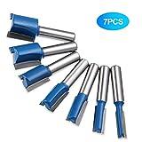 Set di punte dritte per fresatura con gambo da 8 mm, 6 mm, 8 mm, 10 mm, 12 mm, 14 mm, 18 mm, 20 mm, per lavori fai da te del legno, punte scalpello