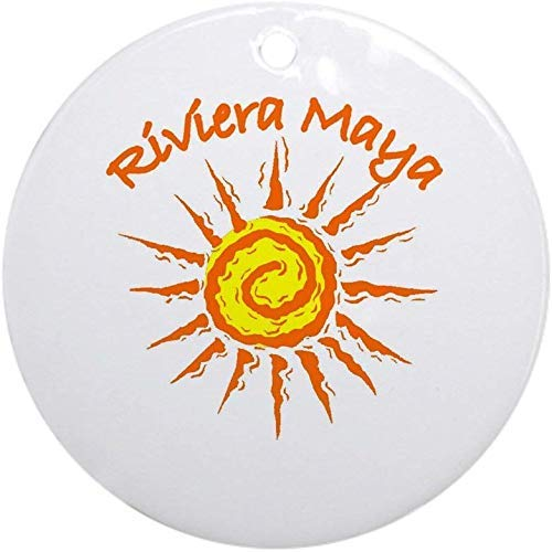 Mesllings Riviera Maya, Mexico Ornament (Round) Holiday Christmas Ornament Holiday and Home Decor Round Xmas Gifts Christmas Tree Ornaments Ideas 2020