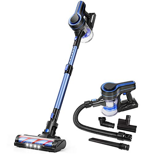 APOSEN Cordless Vacuum Cleaner, Upgraded 24000pa Stick Vacuum 5 in 1 with 250W Powerful Brushless Motor, Detachable Battery Lightweight Quiet for Deep Cleaning H251
